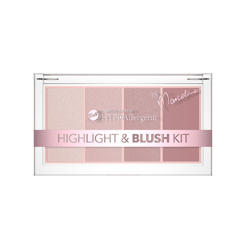 Iluminator si Blush - Bell HYPOAllergenic Highlight and Blush Kit 01